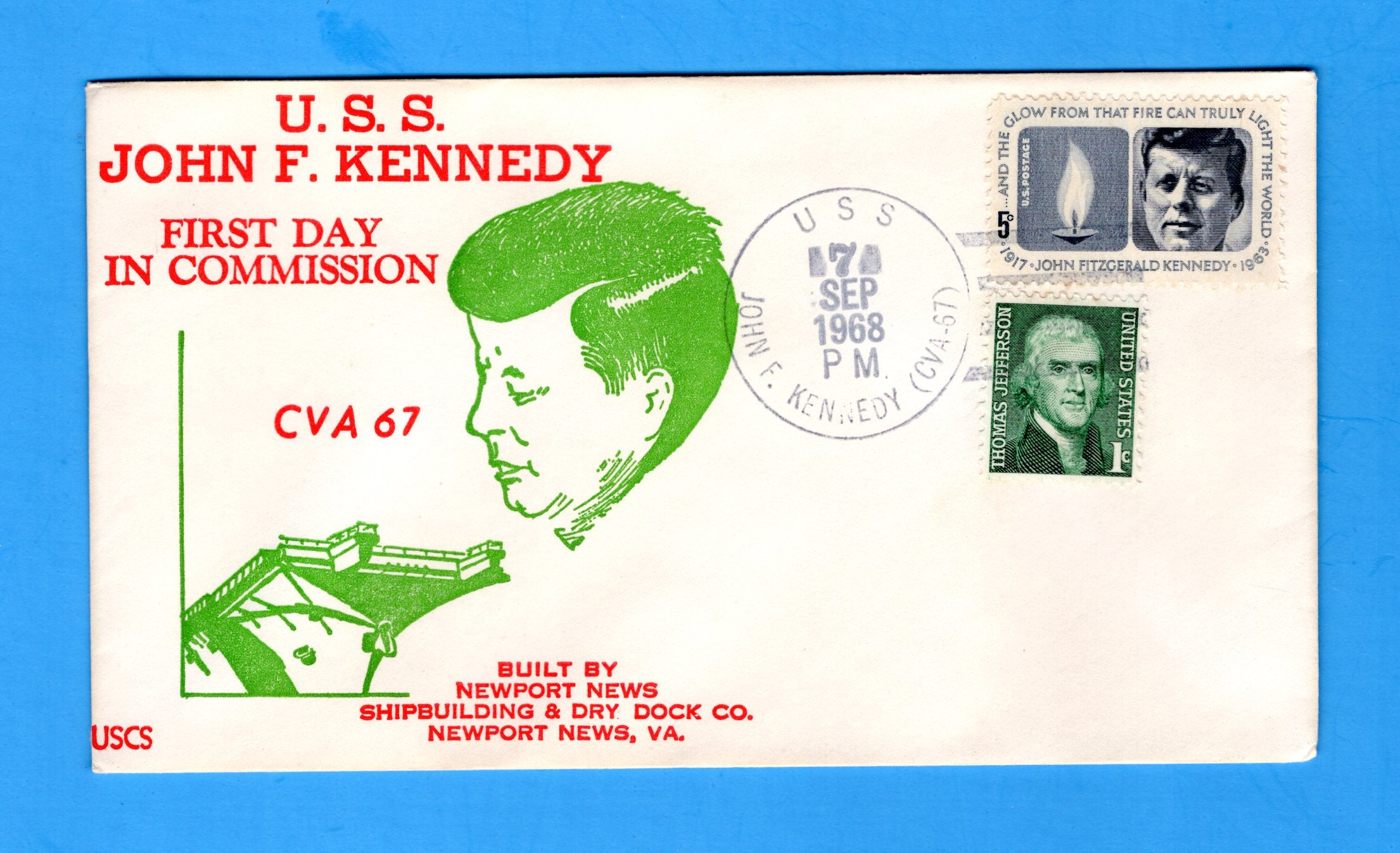 USS John F. Kennedy CVA-67 Commissioned September 7, 1968