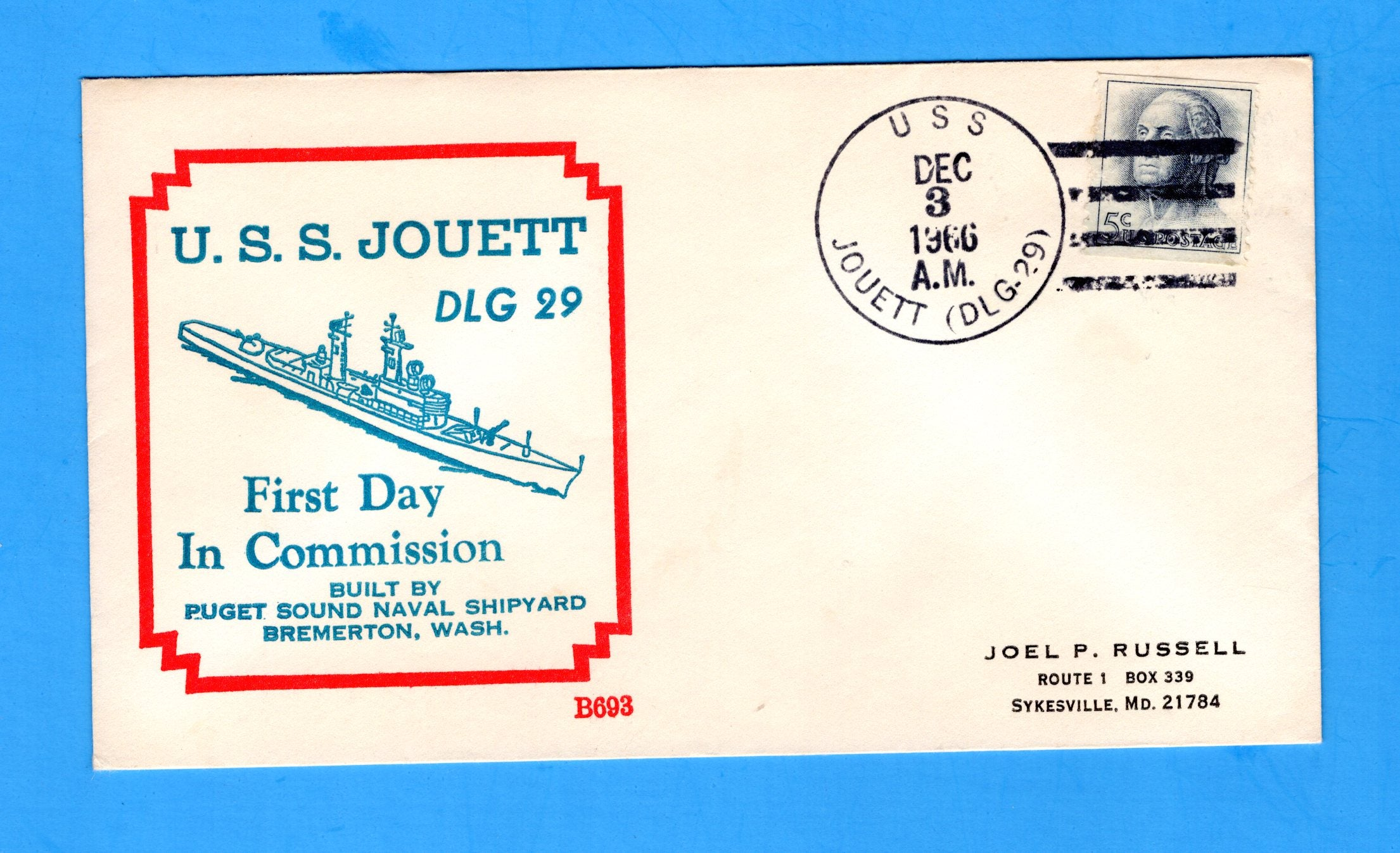 USS Jouett DLG-29 Commissioned December 3, 1966 - Beck B693