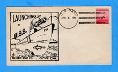 USS Cero SS-225 Launched April 4, 1943 - Raised Print Cachet