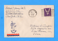 Submarine Chaser USS SC-712 Sailor's Mail September 30, 1943 - Norfolk, VA