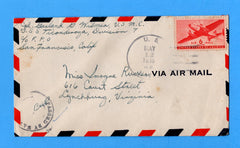 USS Ticonderoga CV-14 Sailor's Censored Mail May 22, 1945 - Arrives at Ulithi Atoll