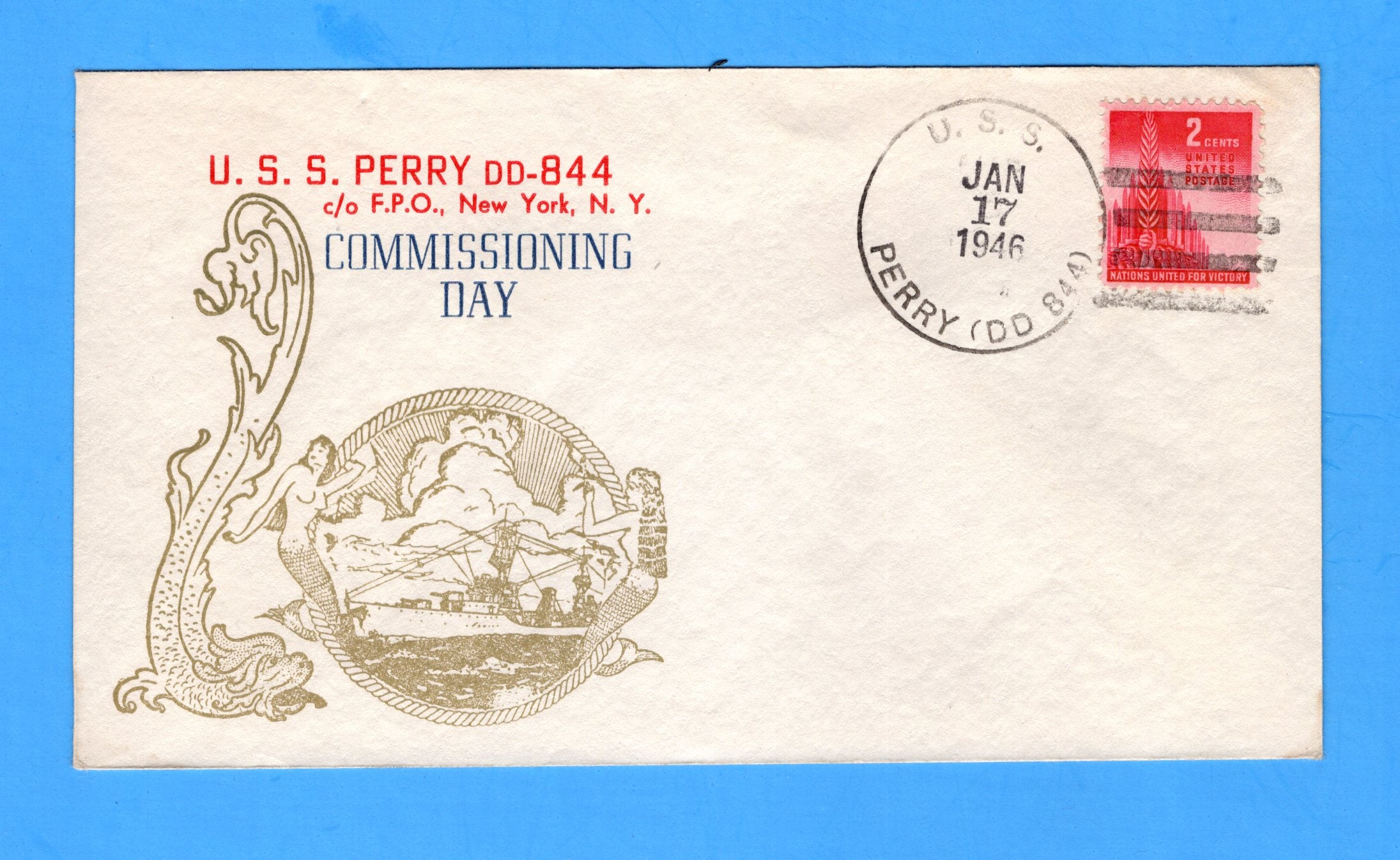 USS Perry DD-844 Commissioned January 17, 1946