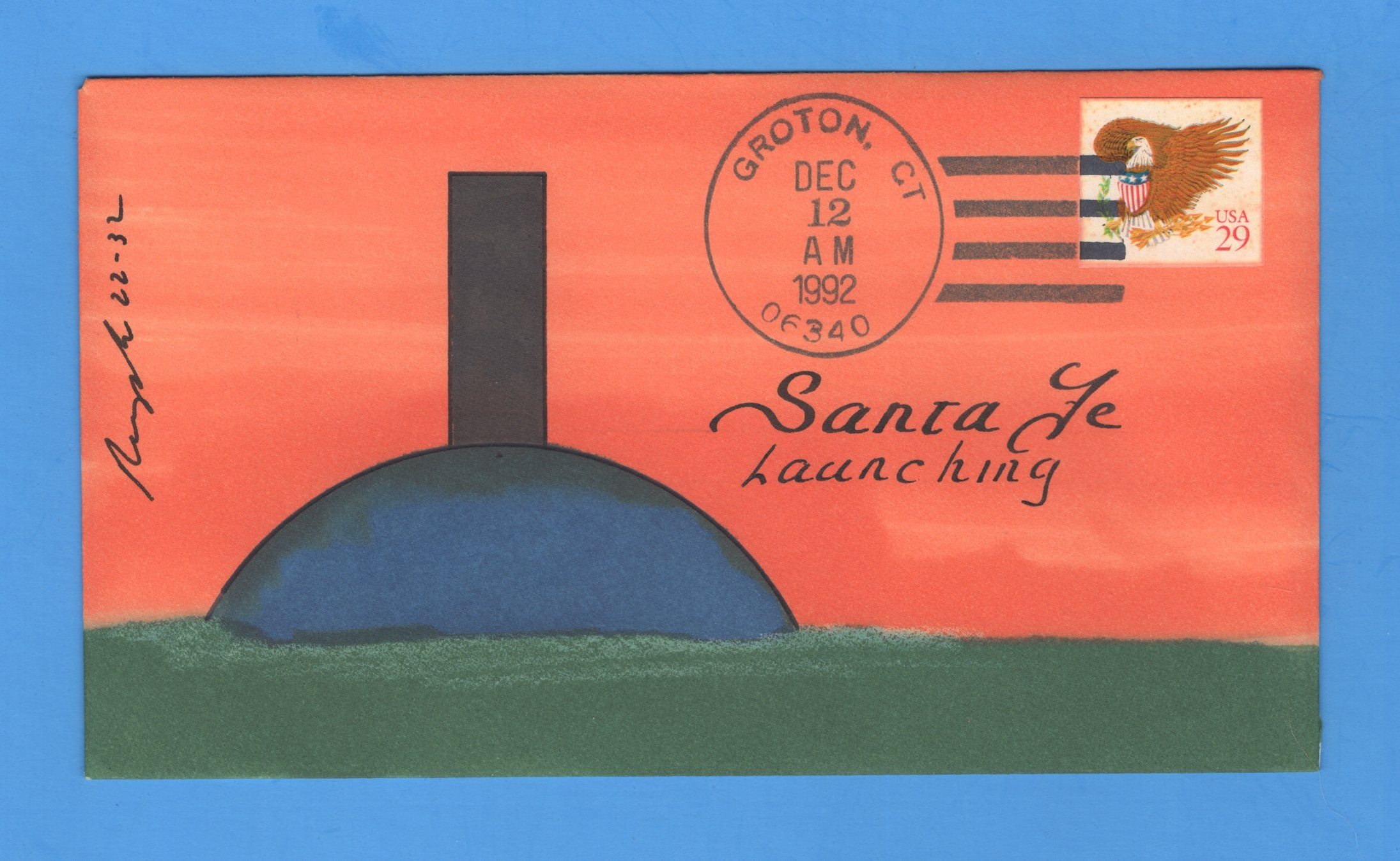 USS Santa Fe SSN-763 Launched December 12, 1992 - Rogak Cachet