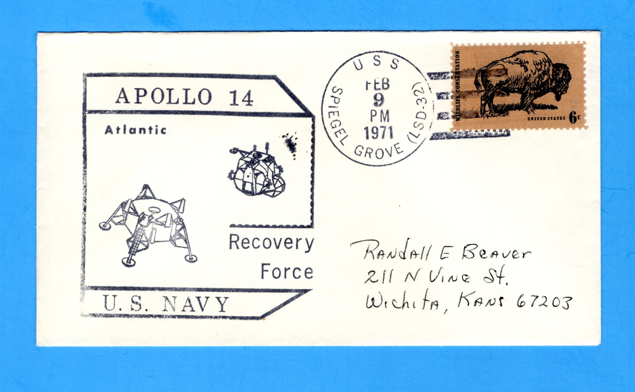 USS Spiegel Grove LSD-32 Apollo 14 Recovery Force Atlantic February 9, 1971