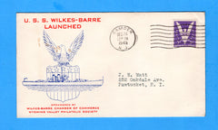 USS Wilkes-Barre CL-103 Launched December 24, 1943
