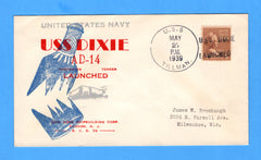 USS Dixie AD-14 Launched May 27, 1939 - Cancelled USS Tillman