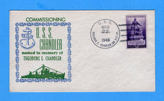 USS Theodore E. Chandler DD-711 Commissioned March 22, 1946 - Raised Print Cachet