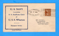 USS Wharton AP-7 Commissioned December 7, 1940