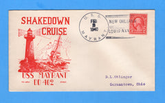 USS Mayrant DD-402 Shakedown Cruise New Orleans, Louisiana Feb 3, 1940