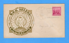 USS Helena CL-50 Commissioned September 18. 1939 - Raised Print Cachet