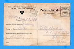 USS Harrisburg ID # 1663 YMCA Notification Soldier is Arriving May 23, 1919
