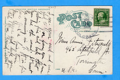 USS Colorado ACR-7 Sailor's Postcard Bouganville Vine, Honolulu Jan 1912
