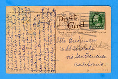 USS Colorado ACR-7 Sailor's Postcard Pan Pacific Expo March 5, 1912