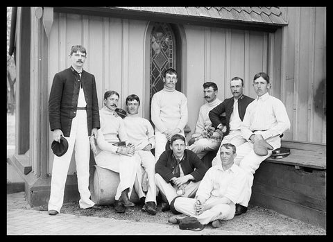 "Baseball team, U.S. Naval Academy [between 1890 and 1901] - Detroit Publishing Co. - 5 x 7"" Photograph"