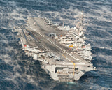 "USS George H.W. Bush CVN-77 Atlantic Ocean in Fog November 24, 2013 - 8 x 10"" Photograph"