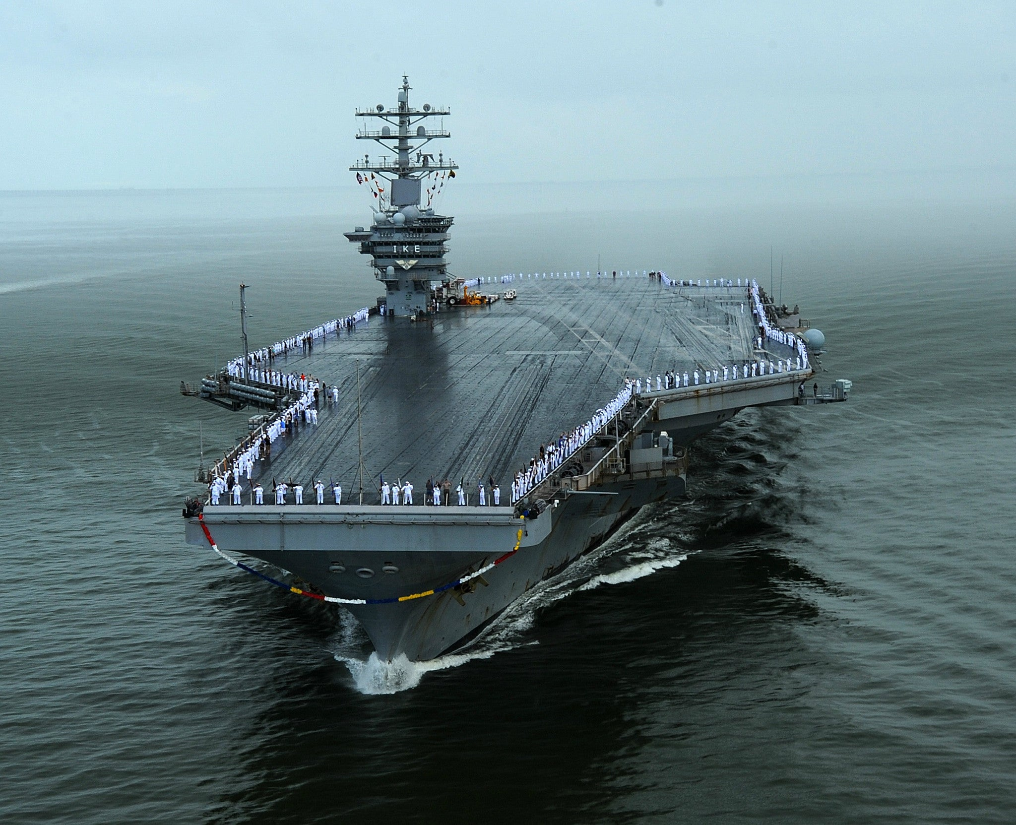 "Aircraft Carrier USS Dwight D. Eisenhower CVN-69 Norfolk, VA July 3, 2013 - 8 x 10"" Photograph"