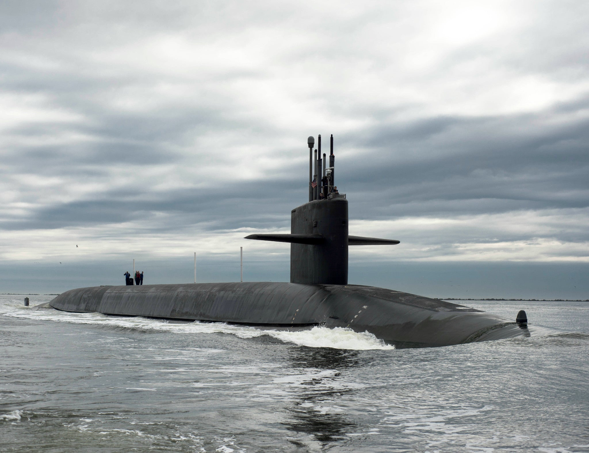 "Submarine SSBN-734 Atlantic Ocean February 6, 2013 - 8 x 10"" Photograph"