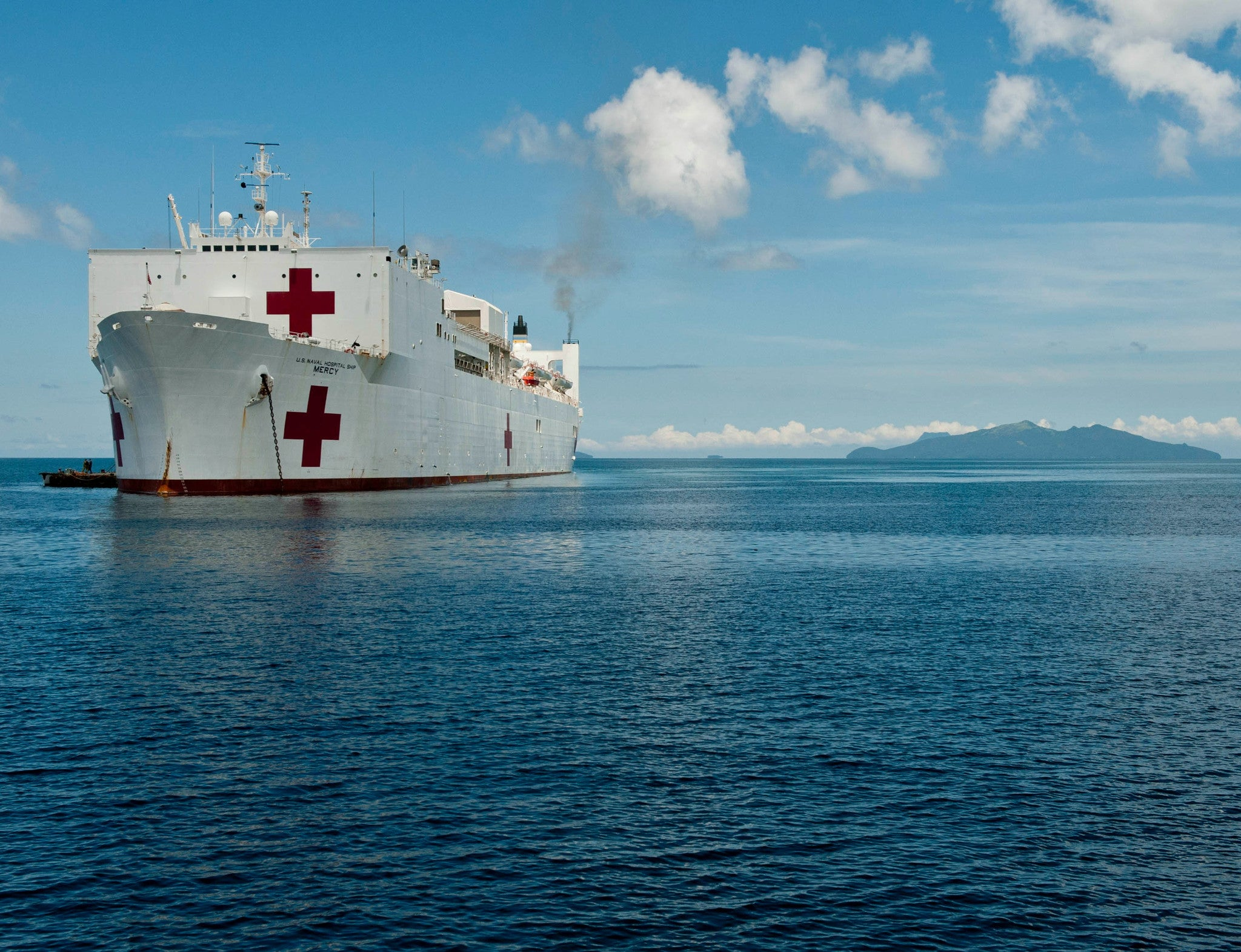 "Military Sealift Command Hospital Ship USNS Mercy T-AH-19 Samar, Philippines July 1, 2012 - 8 x 10"" Photograph"