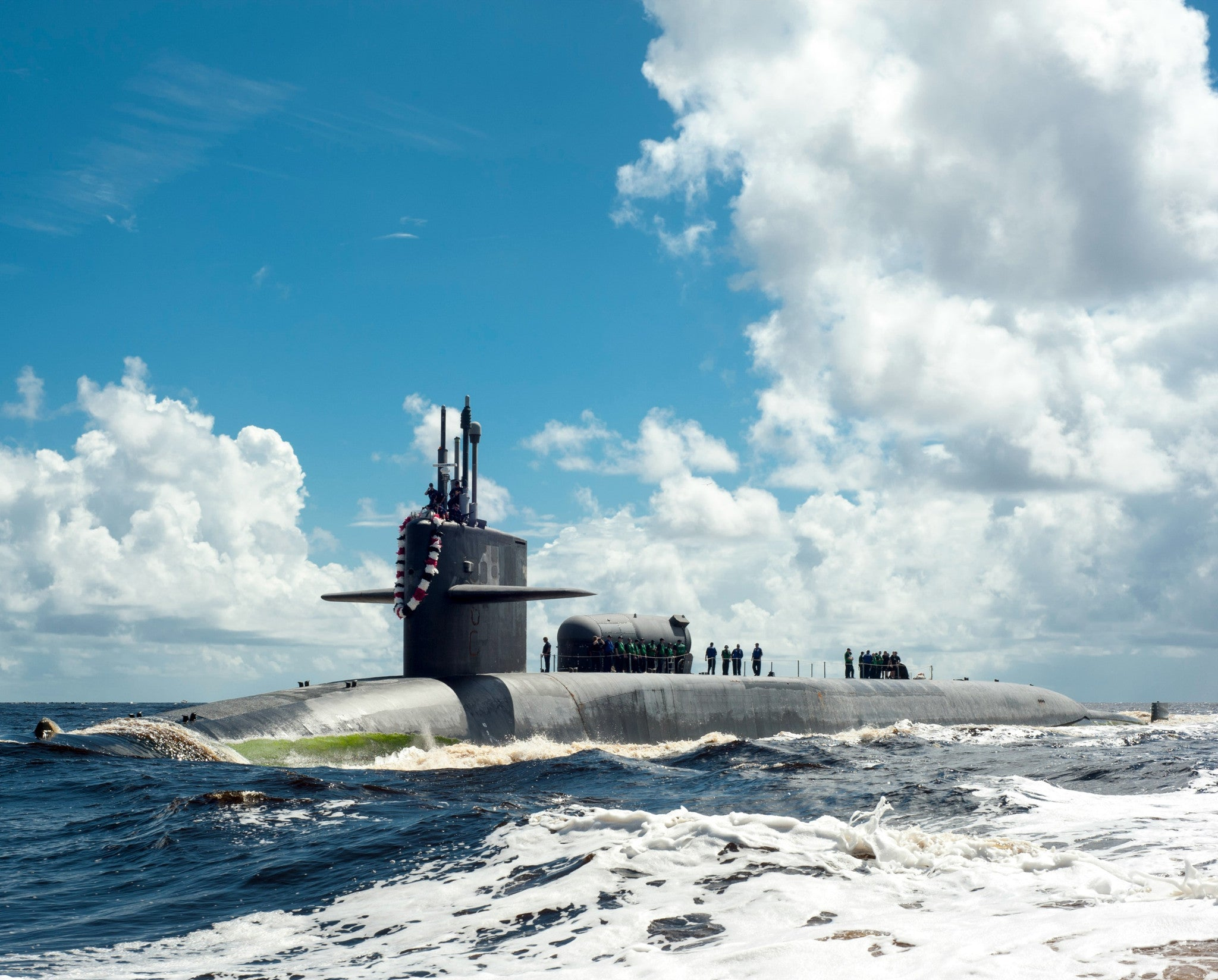 "Submarine USS Georgia SSGN-729 Fernandina Beach, FL July 15, 2012 - 8 x 10"" Photograph"