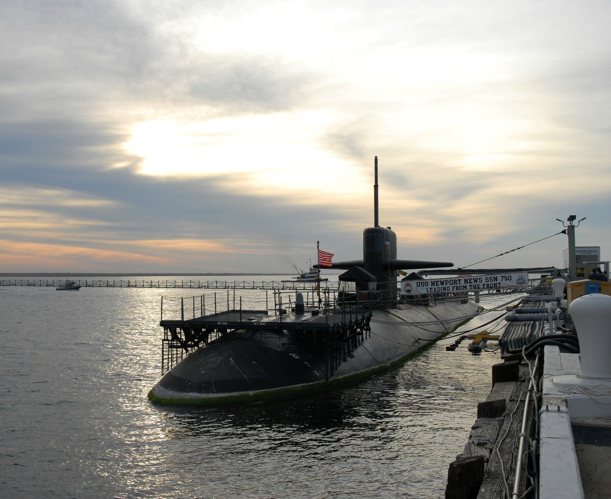 "Submarine USS Newport News SSN-750 Norfolk, VA November 16, 2011 - 8 x 10"" Photograph"