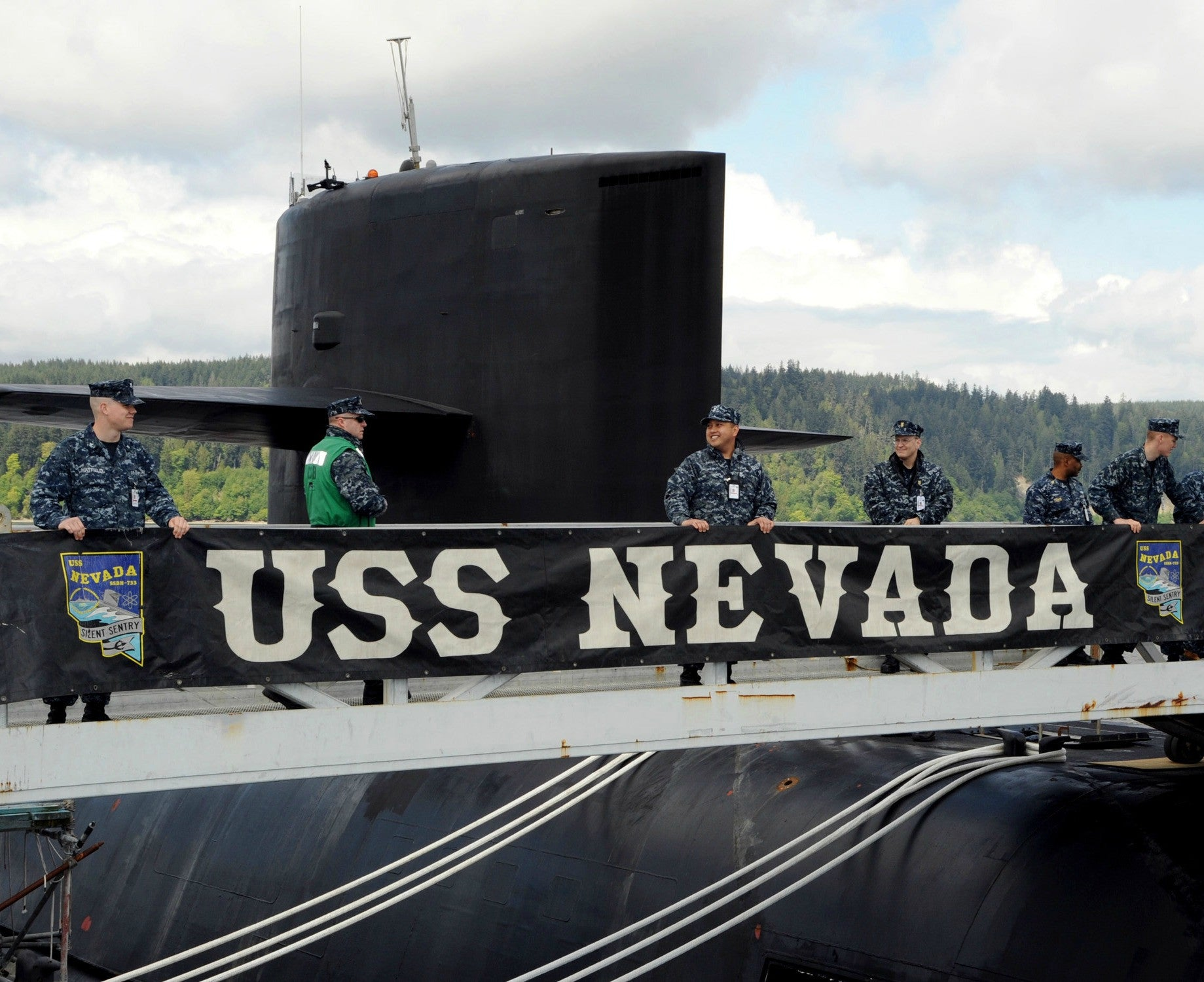 "Submarine USS Nevada SSBN-733 Bangor, WA May 6, 2010 - 8 x 10"" Photograph"