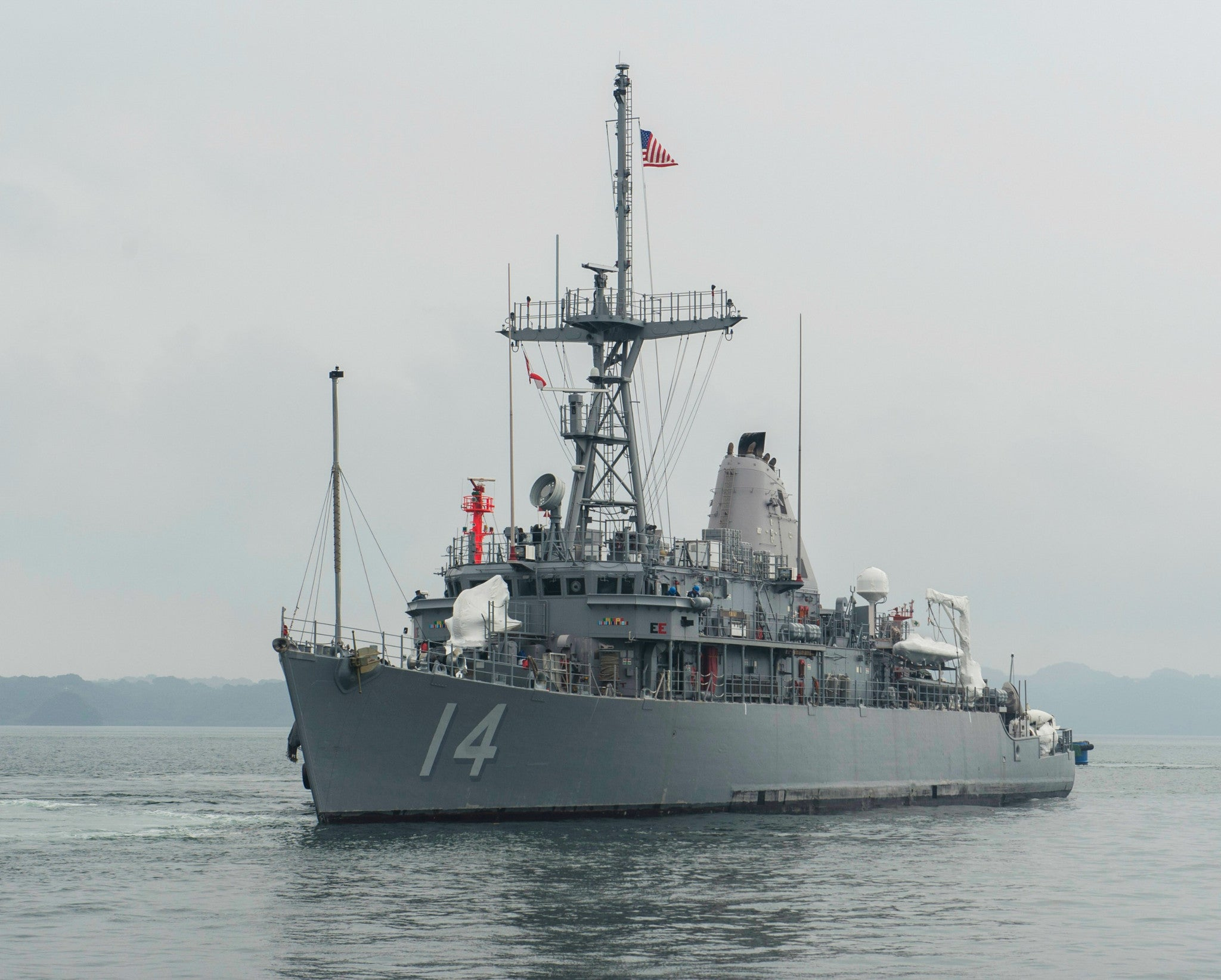 "Mine Countermeasure Ship USS Chief MCM-14 Sasebo, Japan July 3, 2014 - 8 x 10"" Photograph"