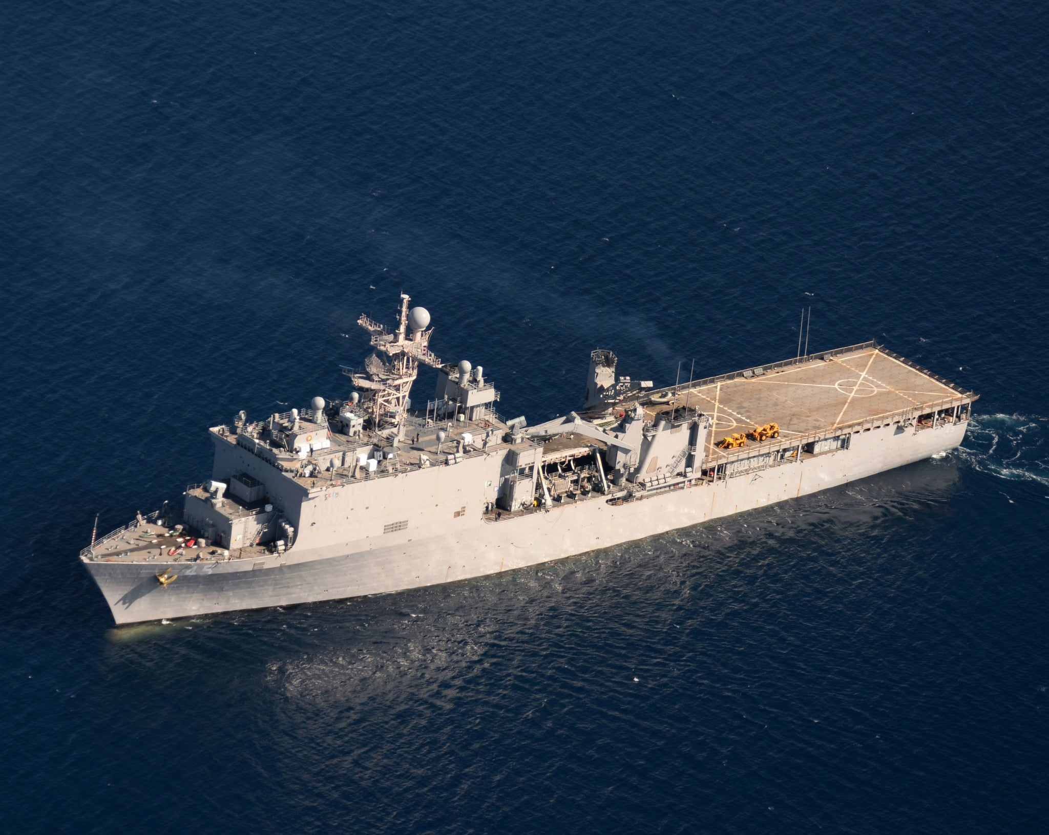 "Landing Ship, Dock USS Comstock Pacific Ocean March 13, 2014 - 8 x 10"" Photograph"