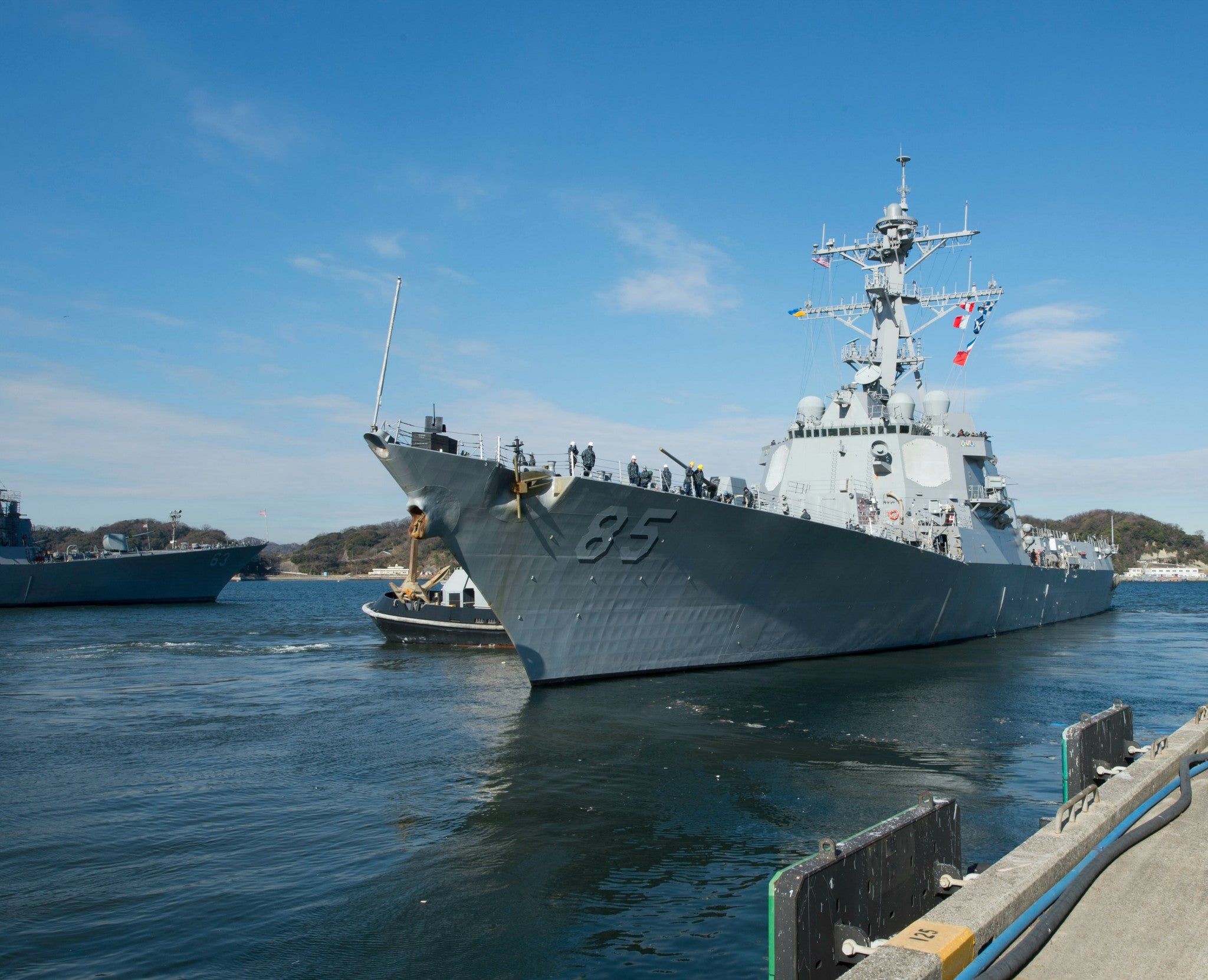 "USS McCampbell DDG-85 Yokosuka, Japan January 16, 2014 - 8 x 10"" Photograph"
