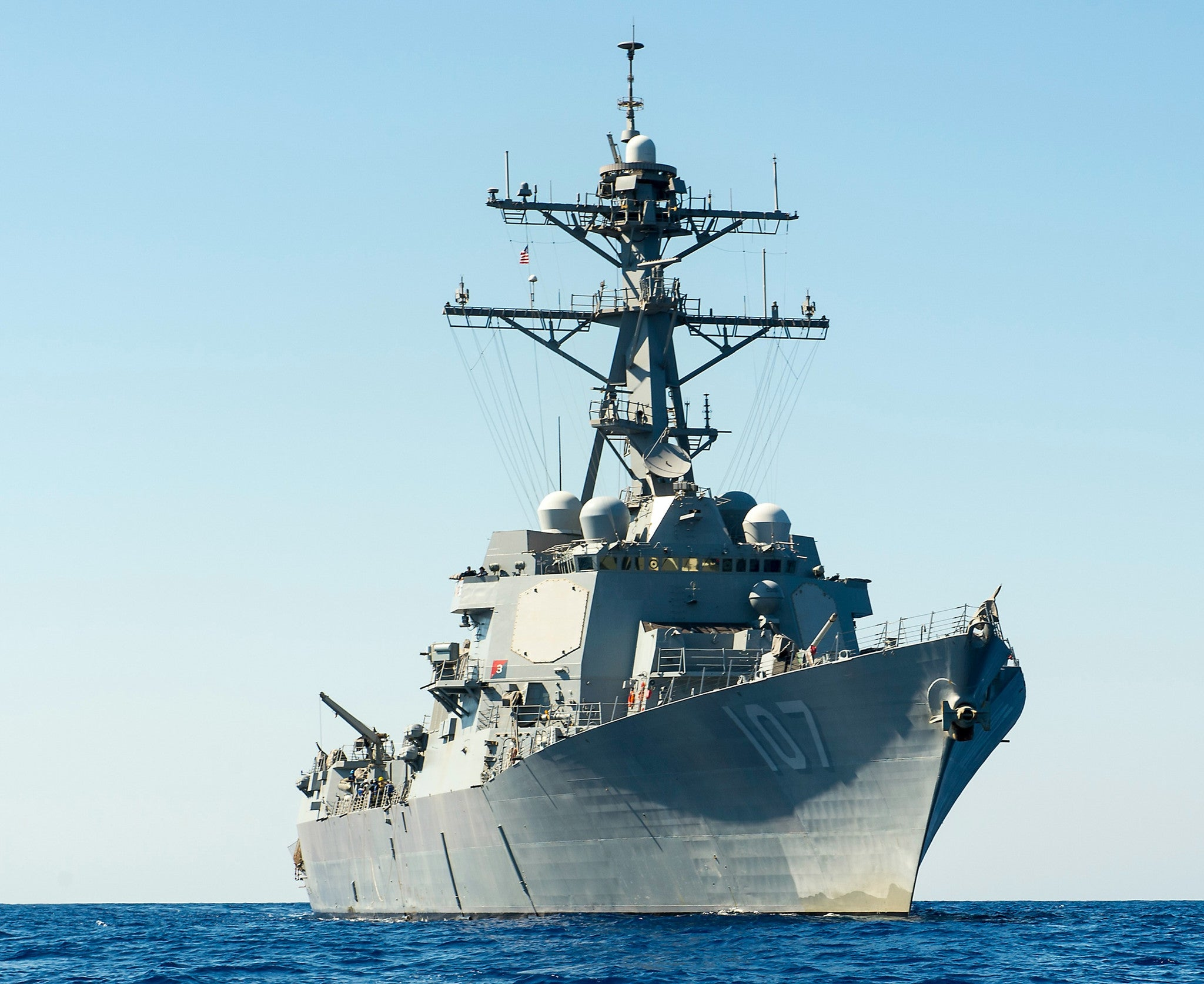 "USS Gravely DDG-107 Mediterranean Sea September 10, 2013 - 8 x 10"" Photograph"