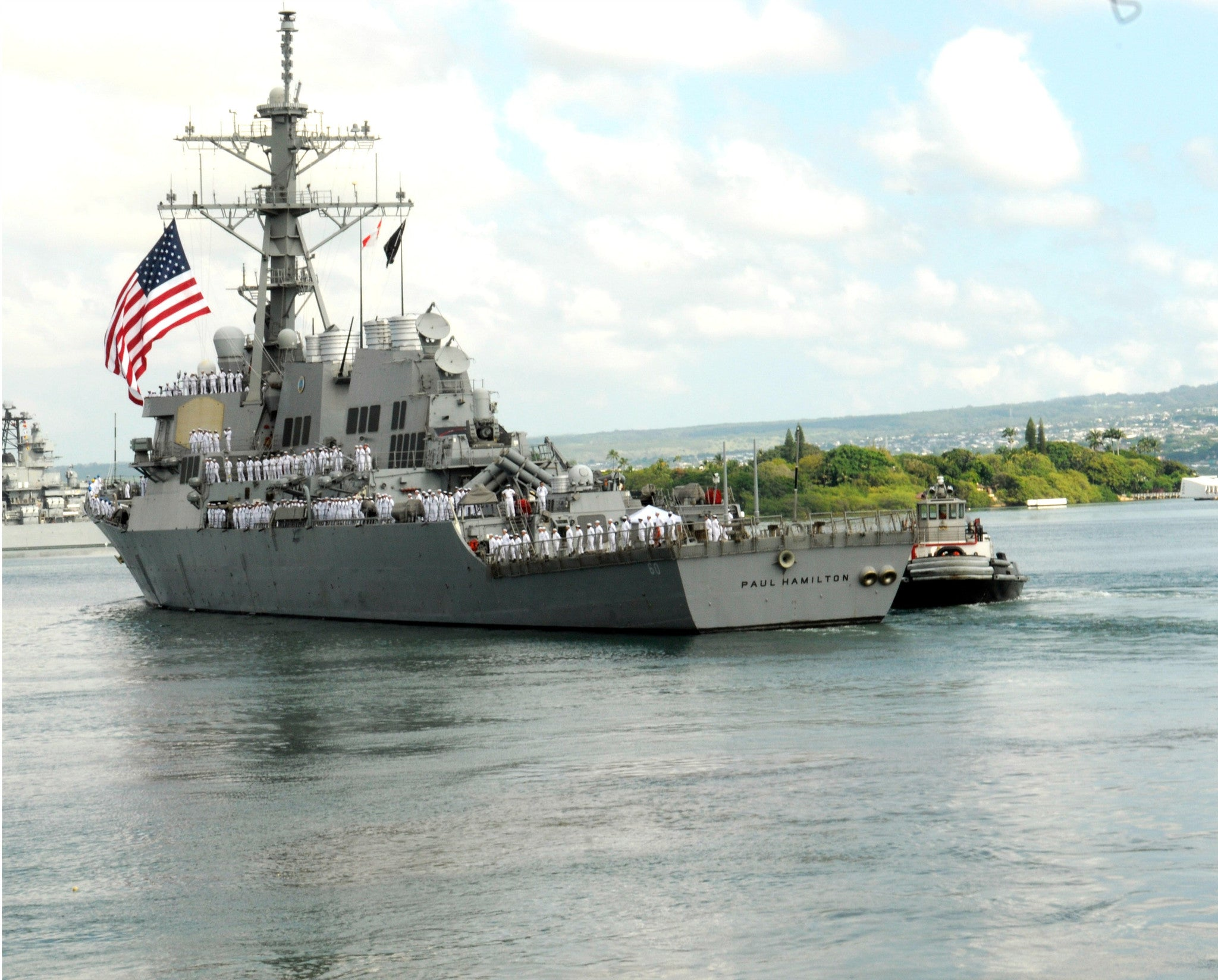 "USS Paul Hamilton DDG-60 Joint Base Pearl Harbor-Hickam September 21, 2012 - 8 x 10"" Photograph"