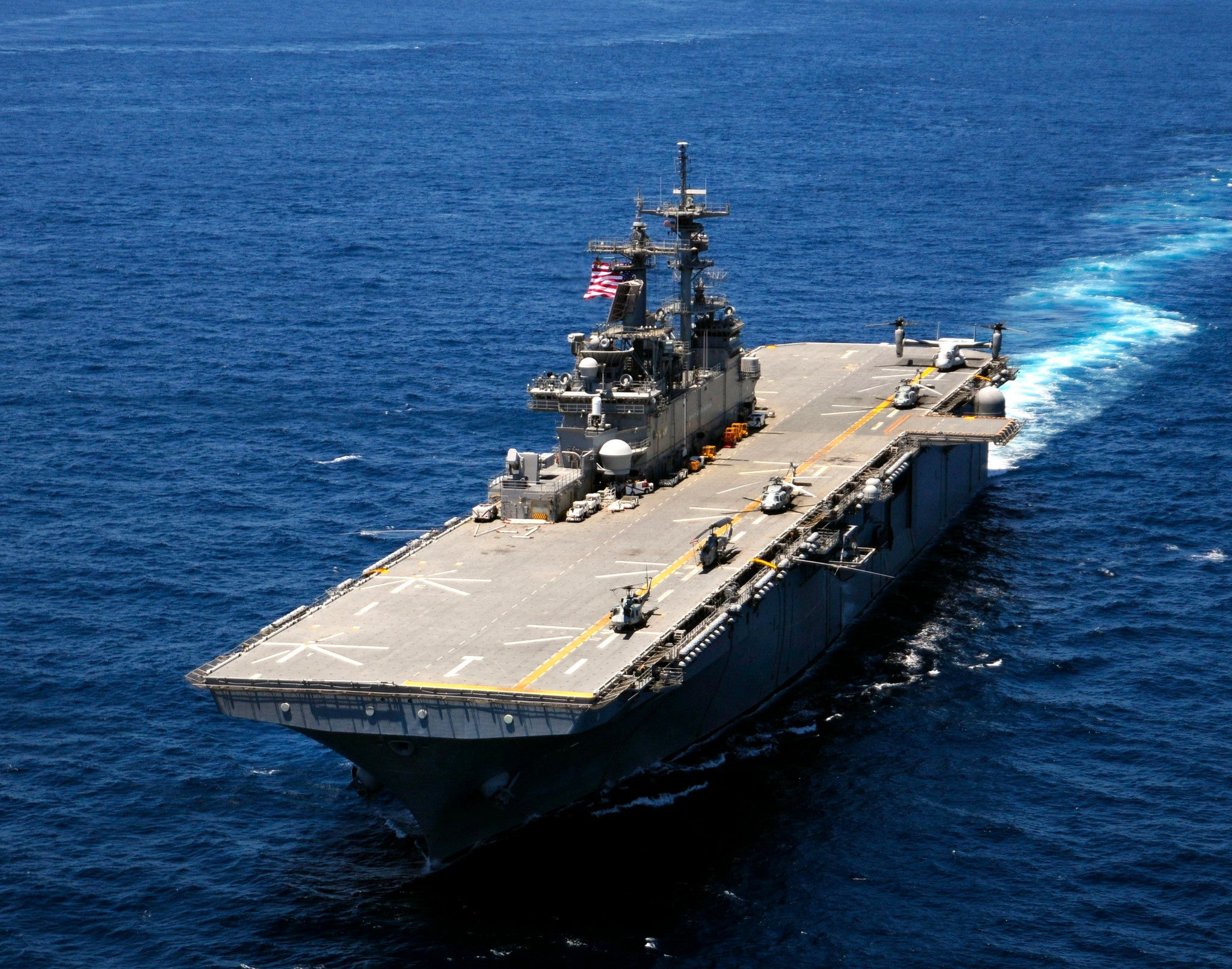 "USS Wasp LHD-1 Atlantic Ocean Multi-national Exercise June 27, 2012 - 8 x 10"" Photograph"
