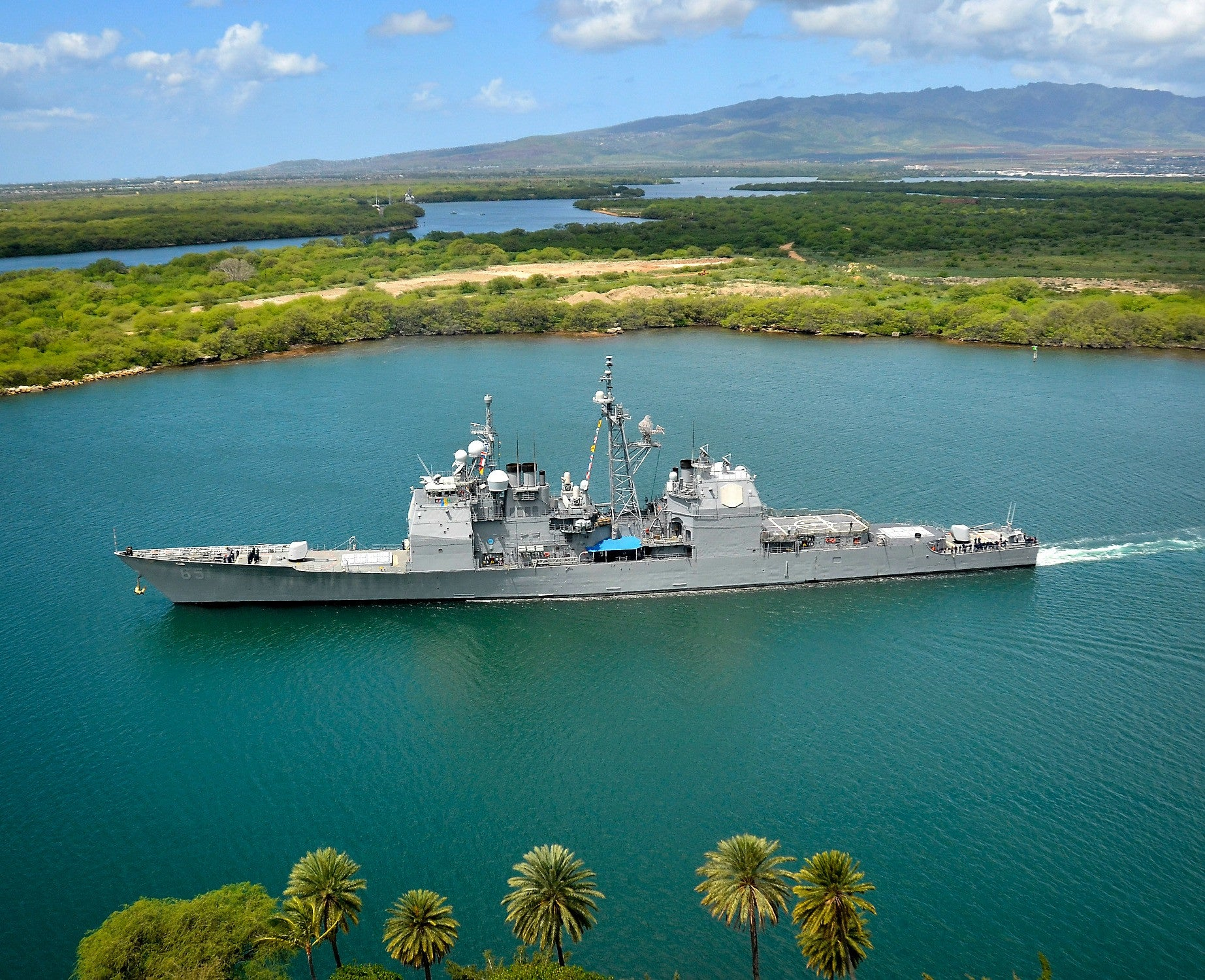 "USS Chosin CG-65 Pearl Harbor MArch 26, 2012 - 8 x 10"" Photograph"