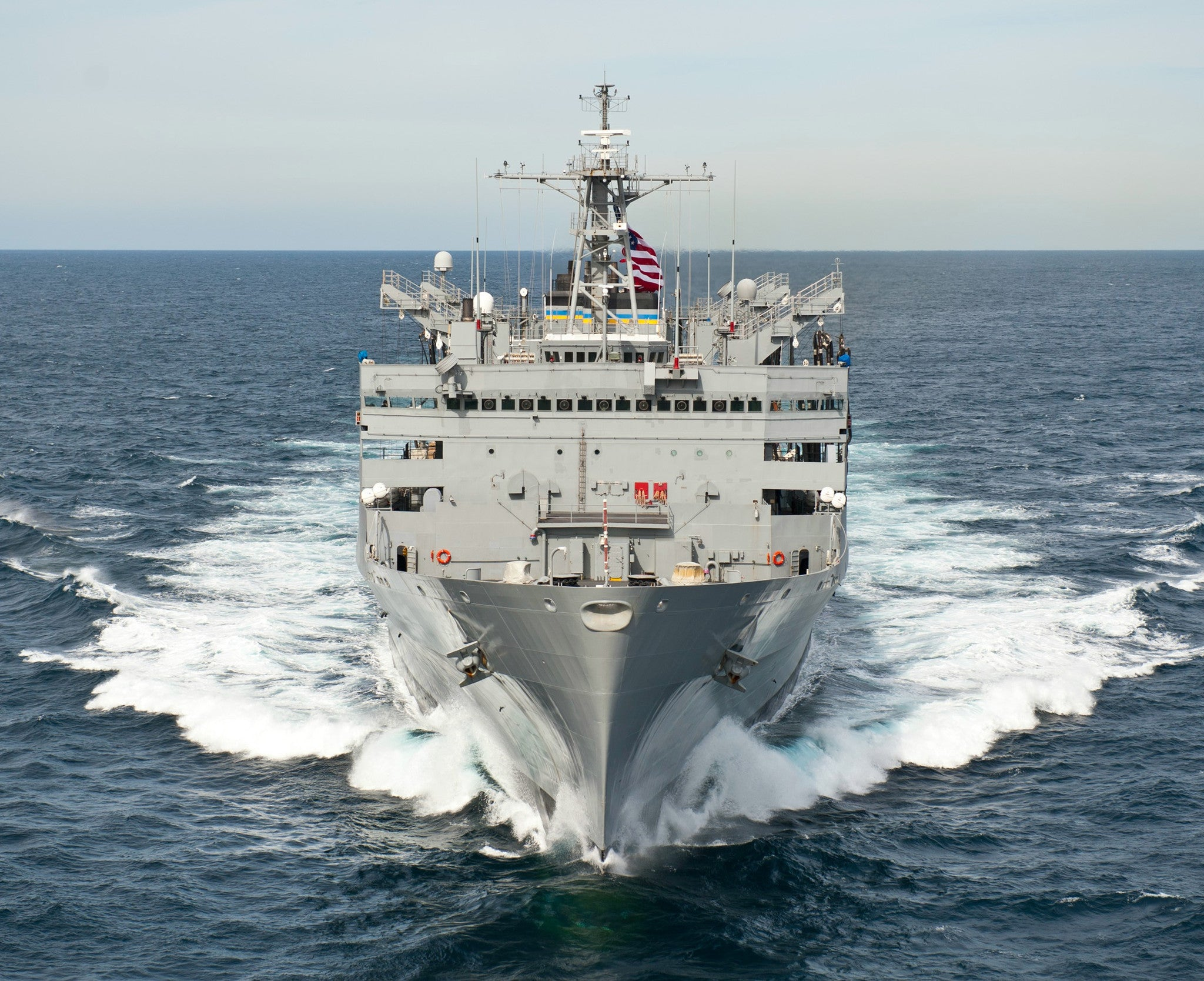 "Military Sealift Command Support Ship USNS Supply T-AOE-6 Atlantic Ocean March 22, 2012 - 8 x 10"" Photograph"