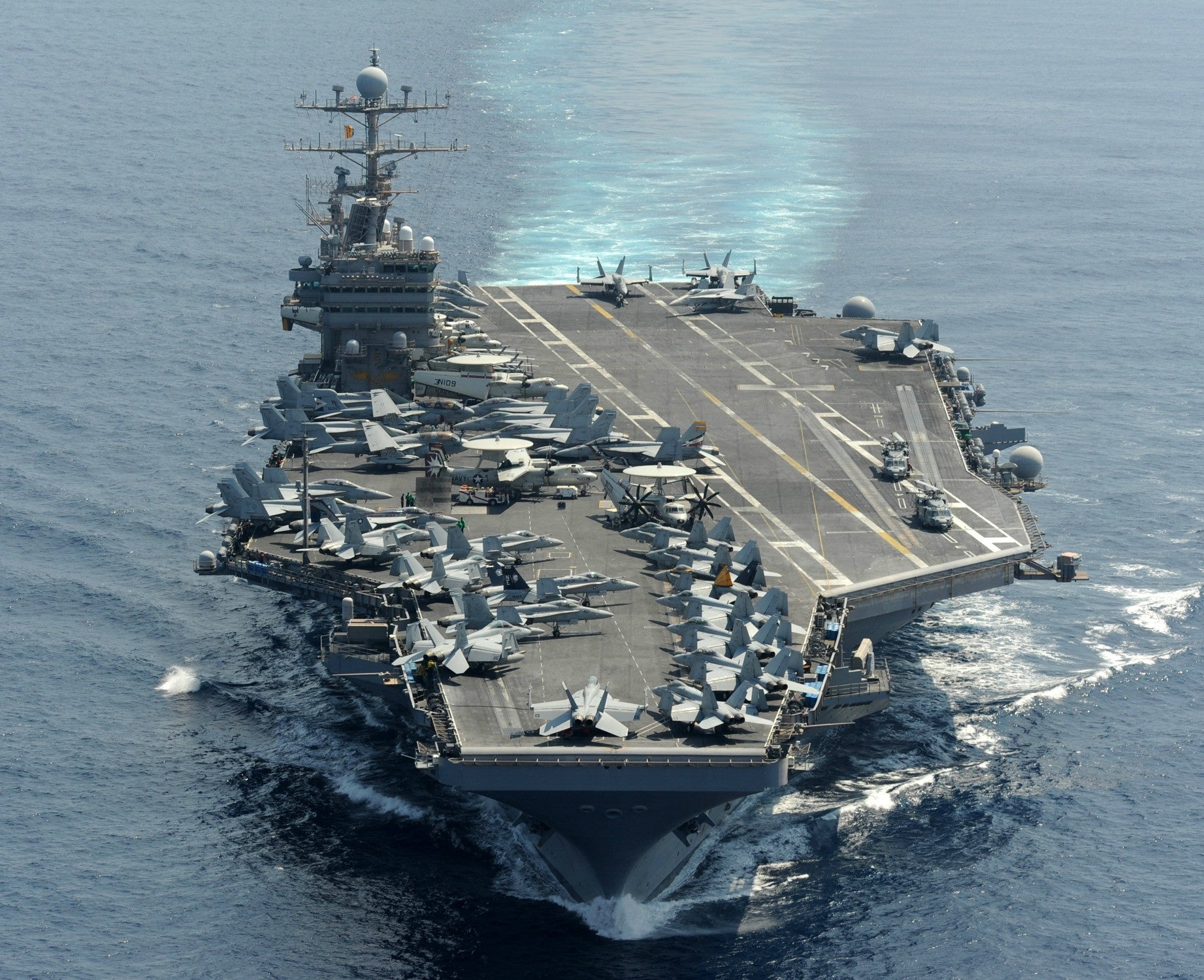 "USS Abraham Lincoln CVN-72 Indian Ocean January 18, 2012 - 8 x 10"" Photograph"