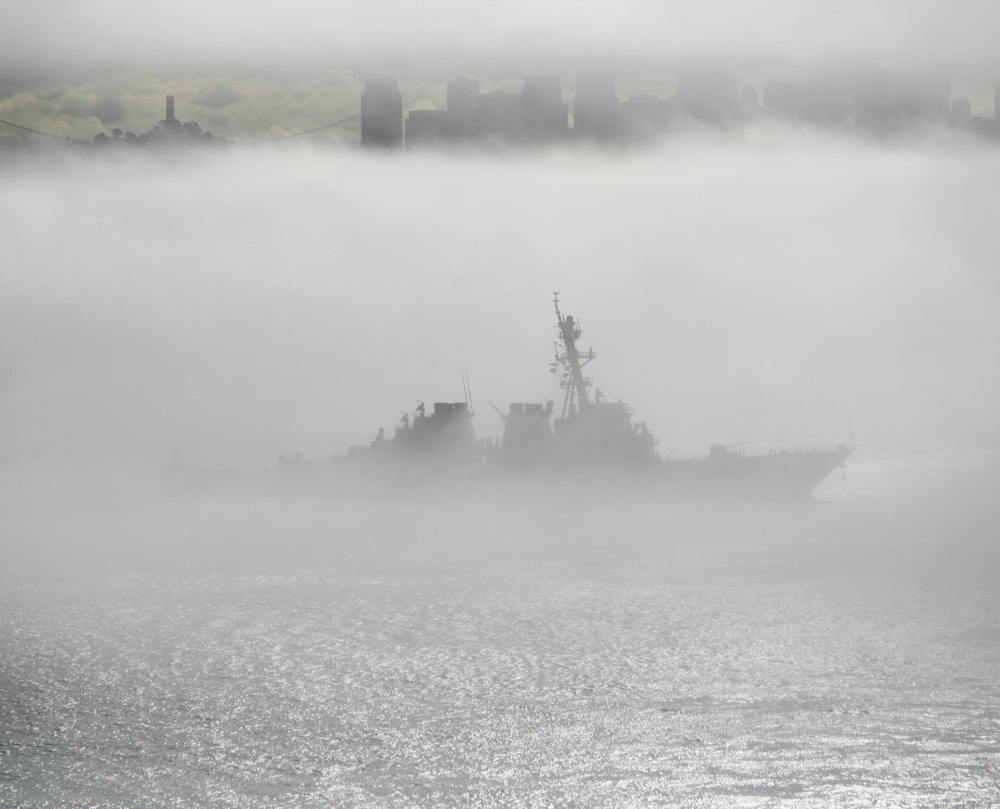 "USS Milius DDG-69 San Francisco October 11, 2011 - 8 x 10"" Photograph"