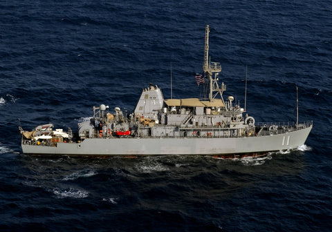 "USS Gladiator MCM-11 Transits the Arabian Gulf August 24, 2011 - 8 x 12"" Photograph"
