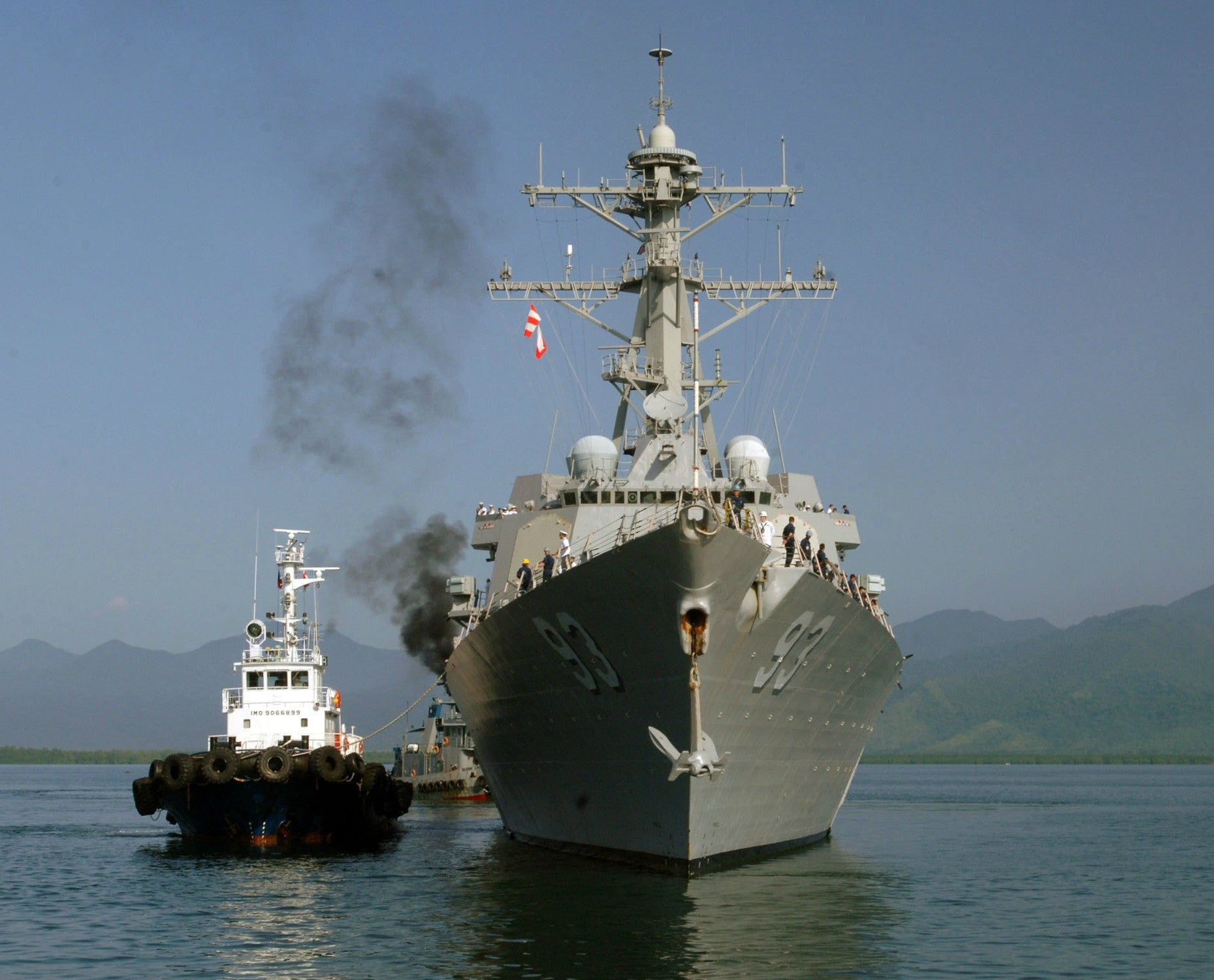 "USS Chung-Hoon DDG-93 Puerto-Princesa, Philippines June 28, 2011 - 8 x 10"" Photograph"