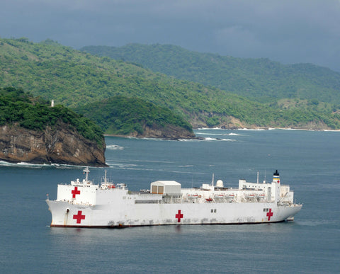 "Military Sealift Command Hospital Ship USNS Comfort T-AH-20 San Juan Del Sur, Nicaragua June 18, 2011 - - 8 x 10"" Photograph"