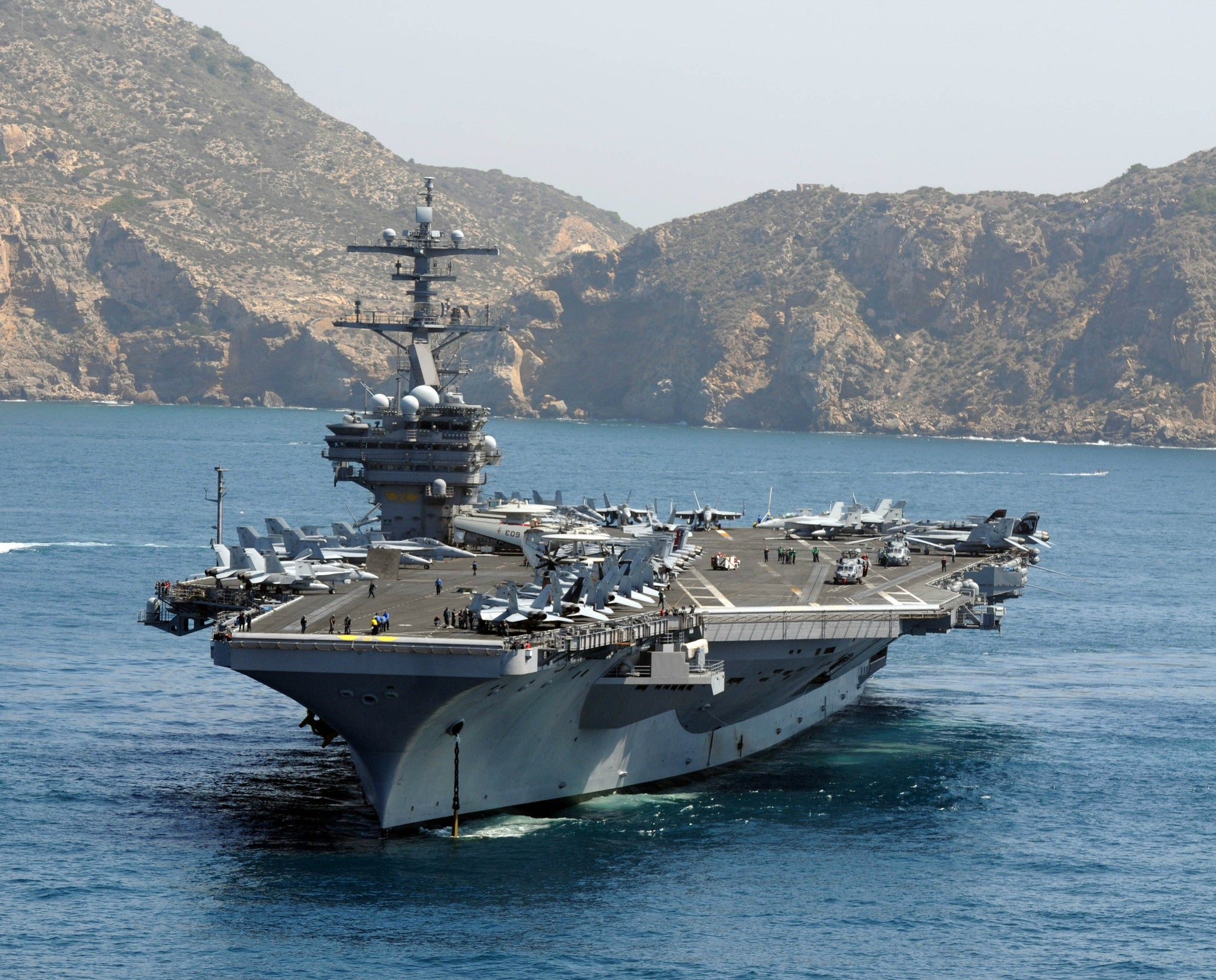 "USS George H.W. Bush CVN-77 Cartagena, Spain June 9, 2011 - 8 x 10"" Photograph"