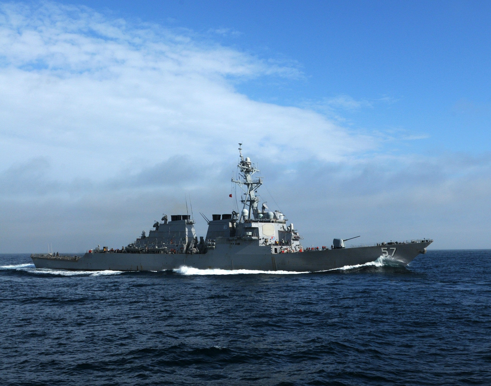 "USS Mitscher DDG-57 Atlantic Ocean May 14, 2011 - 8 x 10"" Photograph"