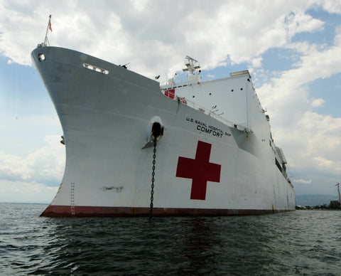 "Military Sealift Command Hospital Ship USNS Comfort T-AH-20 Kingston, Jamaica April 13, 2011 - 8 x 10"" Photograph"