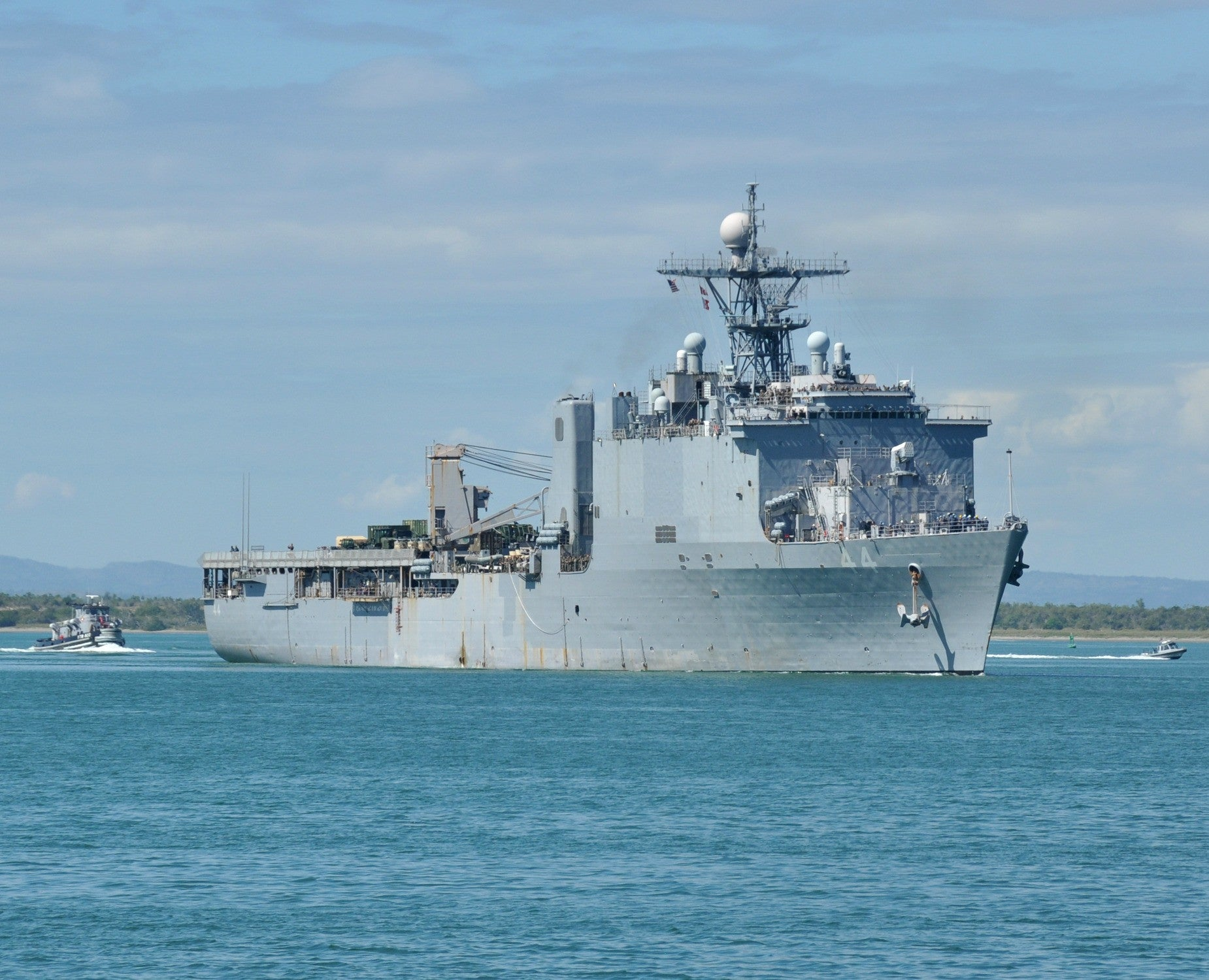 "Landing Ship, Dock USS Gunston Hall Guantanamo Bay, Cuba January 19, 2011 - 8 x 10"" Photograph"