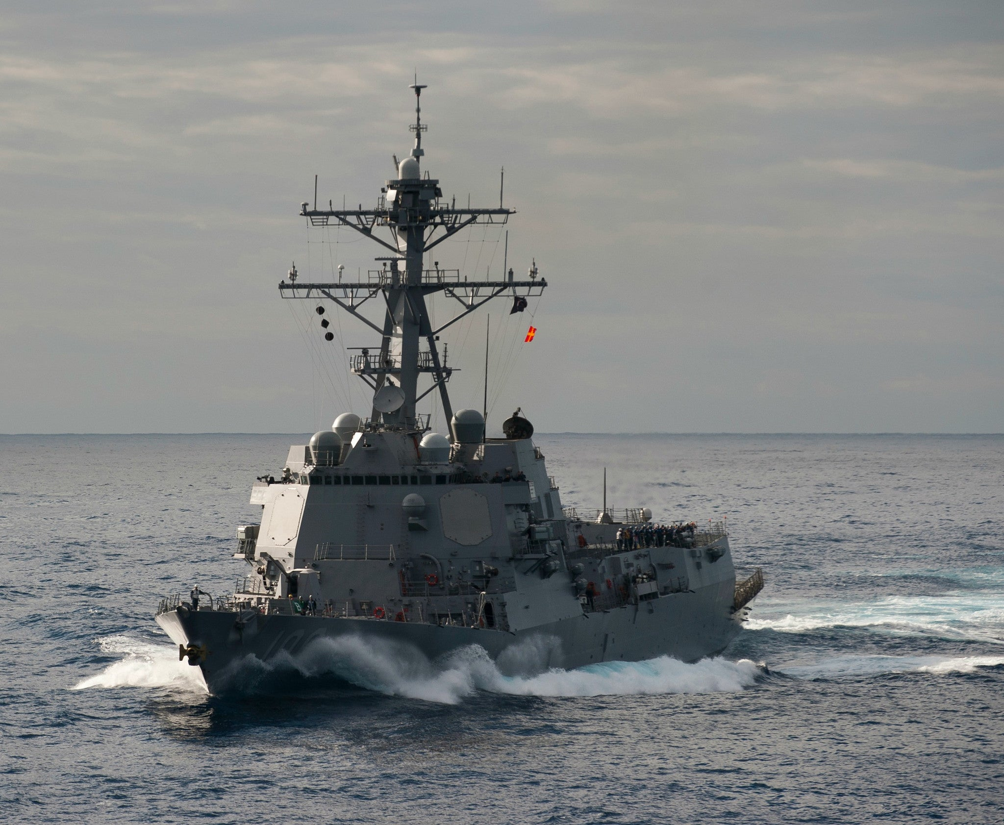 "USS Stockdale DDG-106 Pacific Ocean January 4, 2011 - 8 x 10"" Photograph"