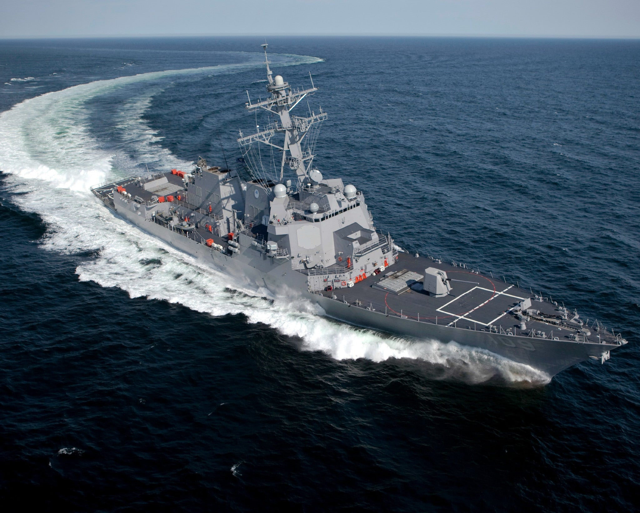 "Pre-Commissioning Unit (PCU) Jason Dunham DDG-109 Atlantic Ocean May 20, 2010 - 8 x 10"" Photograph"