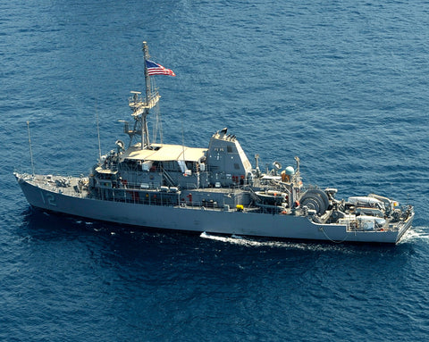"Countermeasures Ship USS Ardent MCM-12 transits the Arabian Sea August 16, 2010 - 8 x 10"" Photograph"