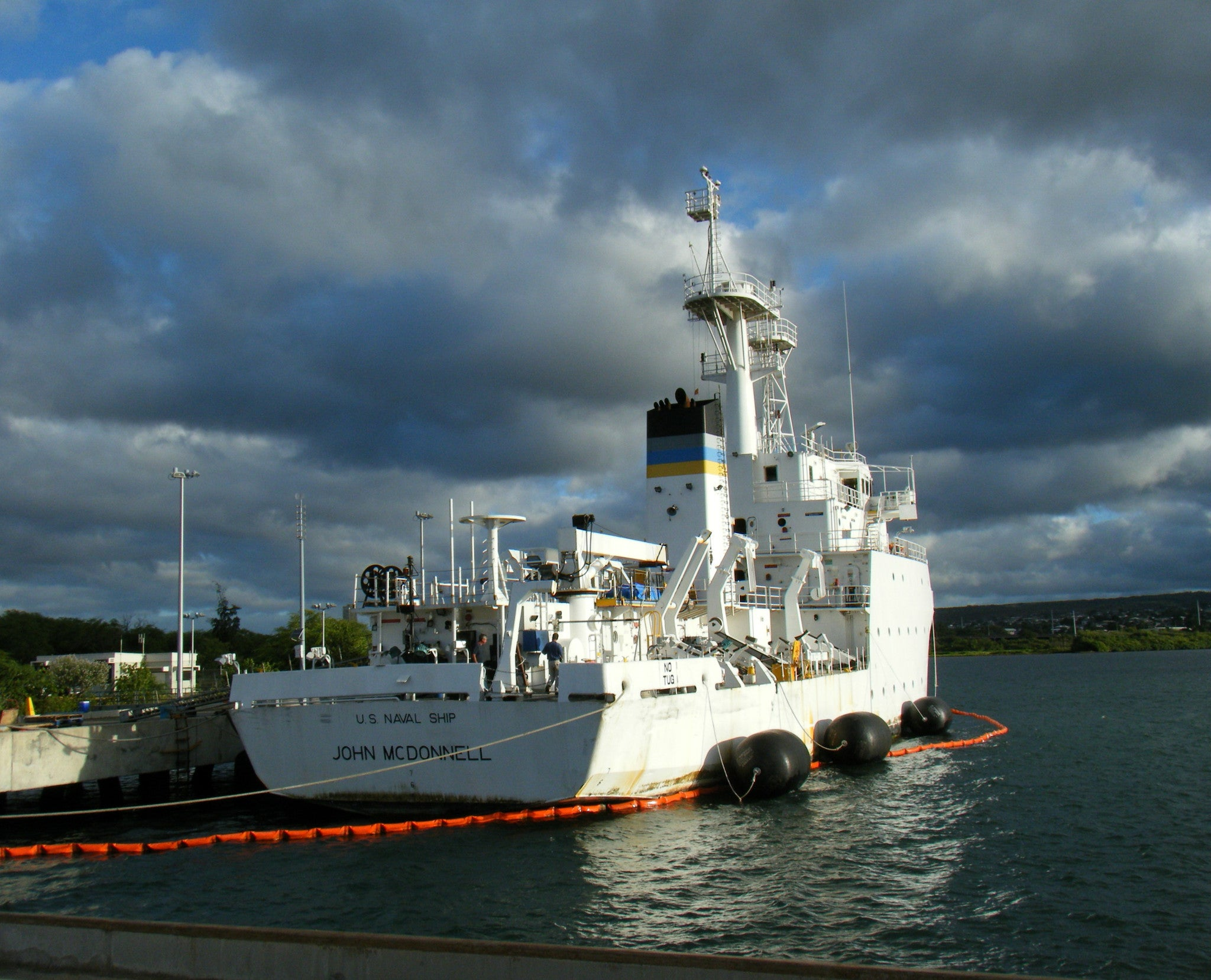 "Military Sealift Command Oceanographic Survey Ship USNS John McDonnell Pearl Harbor August 25, 2010 - 8 x 10""Photograph"
