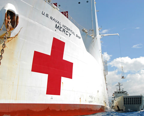 "Military Sealift Command Hospital Ship USNS Mercy T-AH-19 Dili, Timor-Leste August 11, 2010 - 8 x 10"" Photograph"