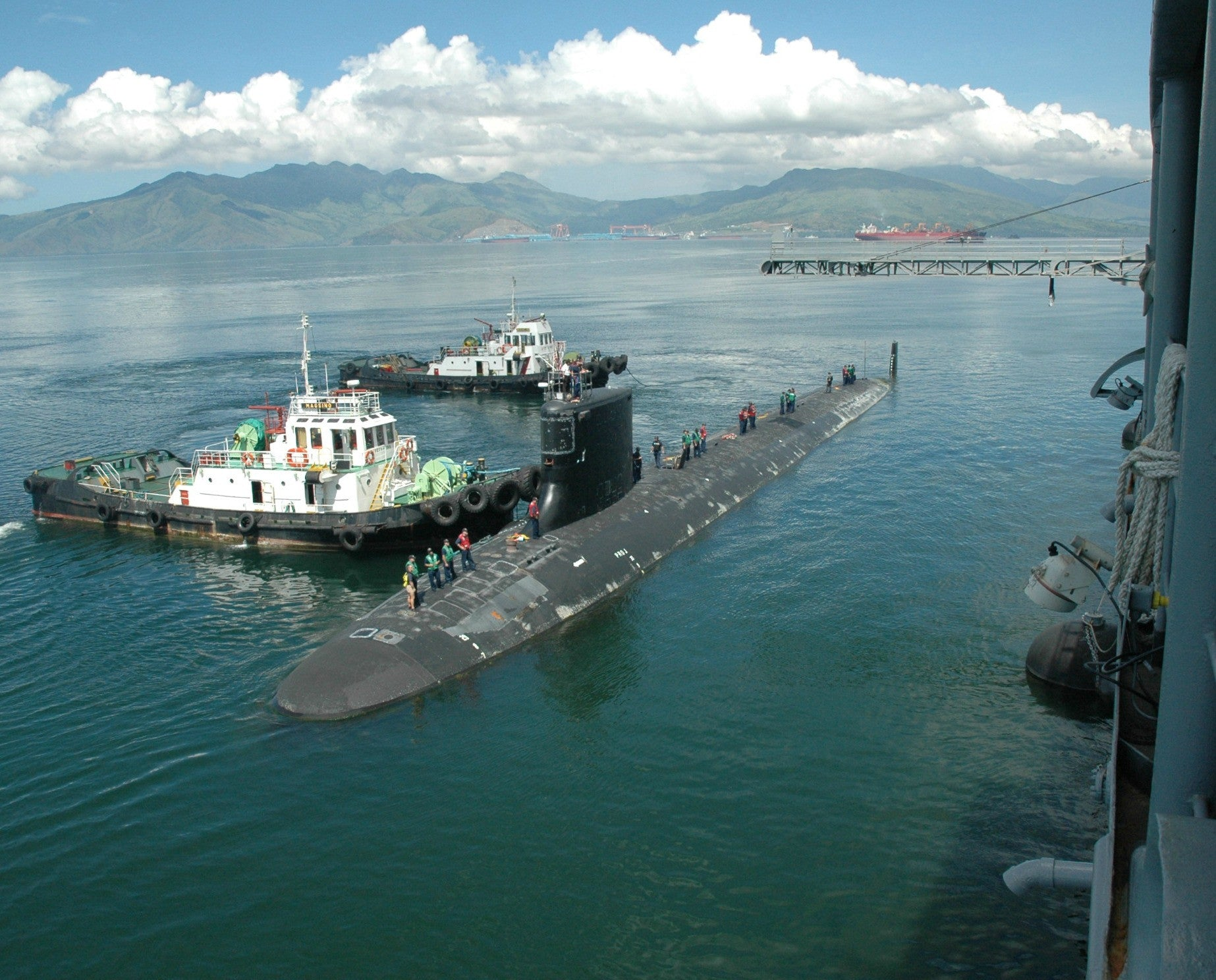 "Submarine USS Hawaii SSN-776 Subic Bay, Philippines September 6, 2012 - 8 x 10"" Photograph"