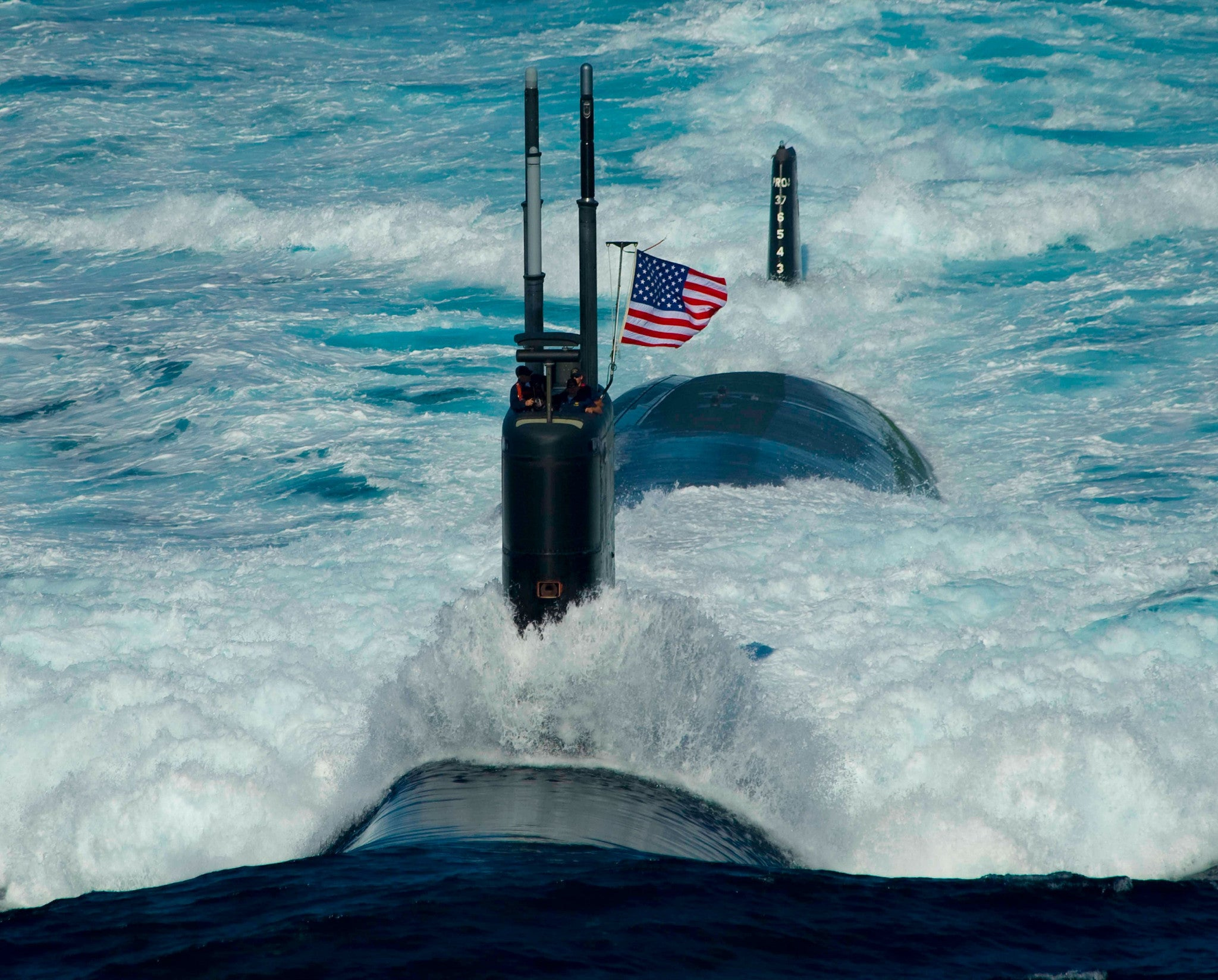 "Submarine USS Tucson SSN-770 Sea of Japan July 26, 2010 - 8 x 10"" Photograph"