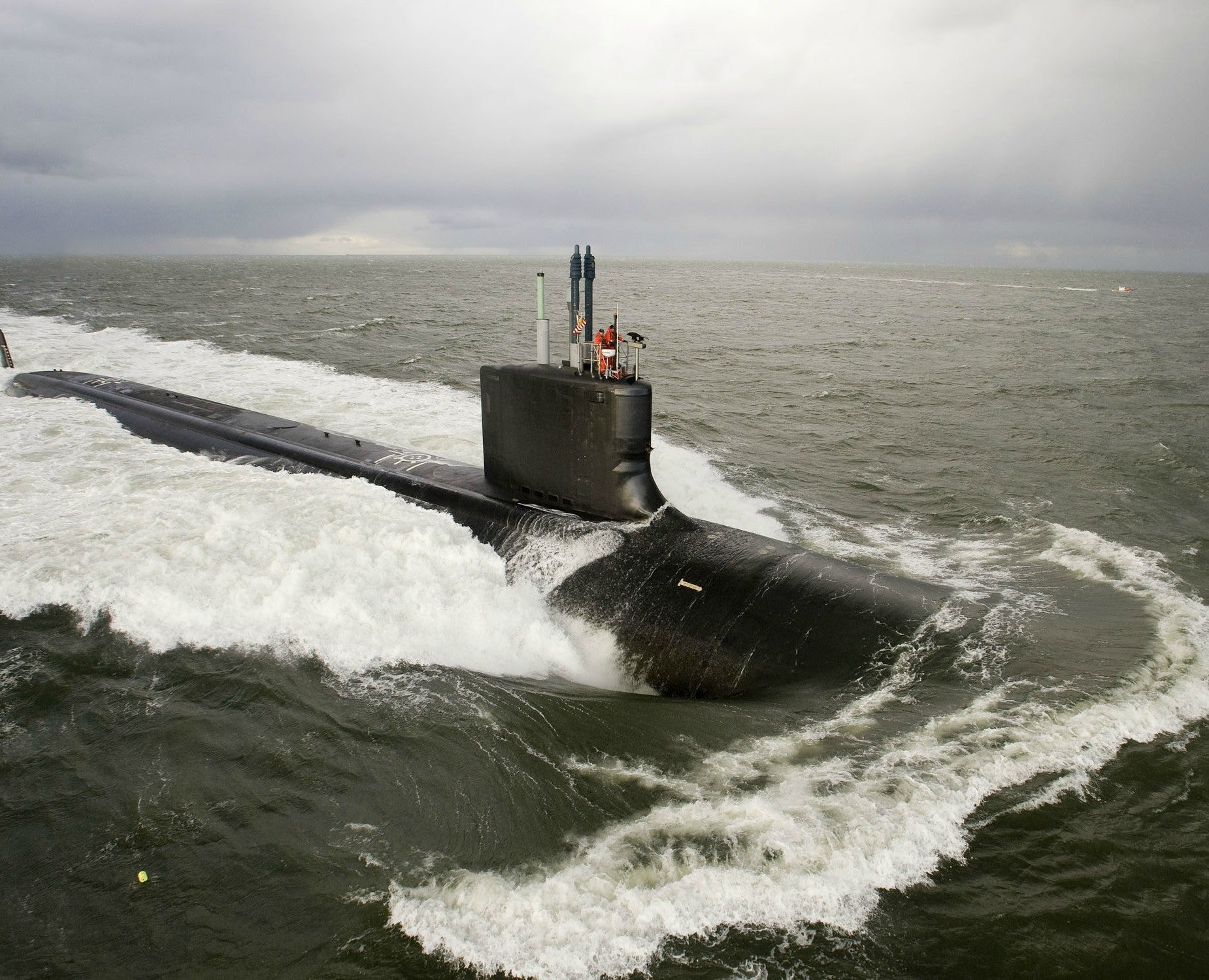"Pre-Commissioning Unit New Mexico SSN-779 Atlantic Ocean November 26, 2009 - 8 x 10"" Photograph"